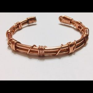 Cuff Copper Bracelet Raw Earthy Edgy Steam Hard